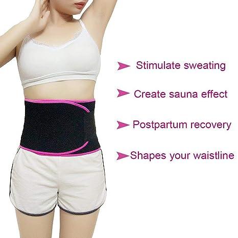 d2b7c1c279b SaunSaundaryai Adjustable Slimming Ab Belt Yoga Wrap Sweat Tummy Trimmer  Stomach Low Back Exercise Back Support