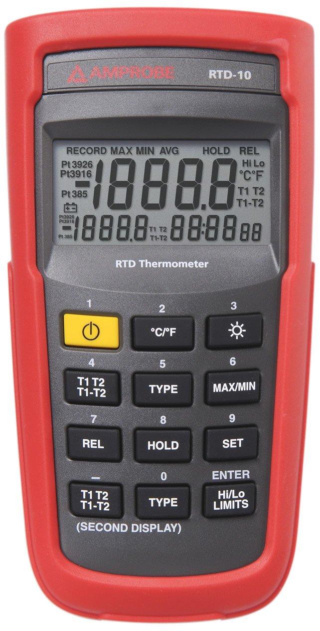 Amprobe RTD-10 Dual Input Digital RTD Thermometer