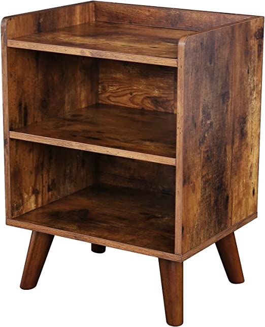 3-Tier Layer Rustic End Table Chair Side Table Night Stand Storage Shelf USA