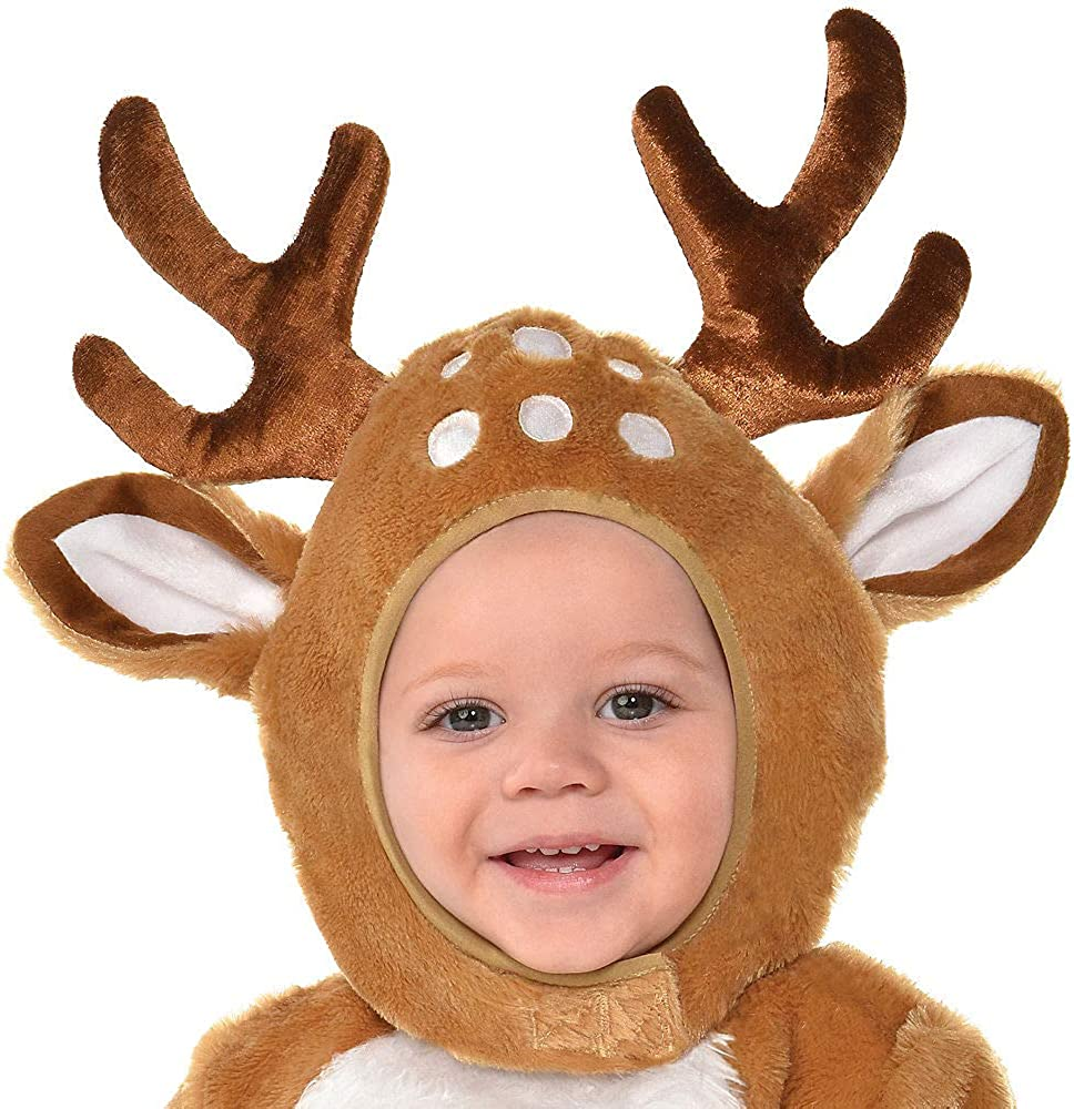 Booties Includes Soft Jumpsuit Suit Yourself Cozy Deer Costume for Babies and Hood Tail