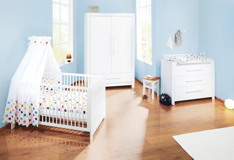 Pinolino Puro Nursery Set di mobili (larghezza, bianco, 3pezzi 3pezzi 101648B