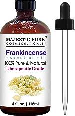 Majestic Pure Frankincense Essential Oil, Pure and Natural with Therapeutic Grade, Premium Quality Frankincense Oil, 4 fl. oz.