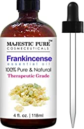 Majestic Pure Frankincense Essential Oil, Pure and Natural with Therapeutic Grade, Premium Quality Frankincense Oil, 4 fl. oz.