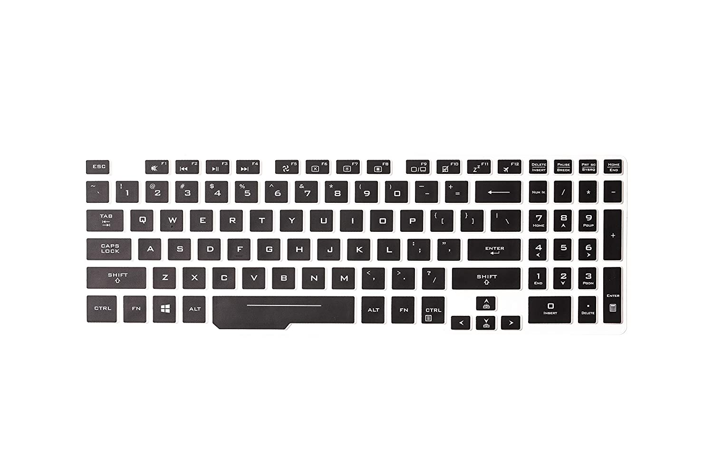 Black Leze Ultra Thin Keyboard Skin Cover for 15.6 Asus ROG GM501GM GM501GS GU501GM Ultra Slim Gaming Laptop