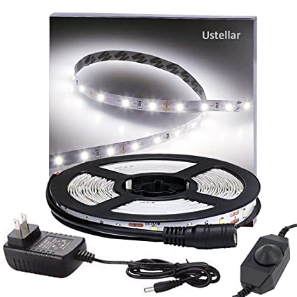 Amazon ustellar dimmable led light strip kit 300 units smd ustellar dimmable led light strip kit 300 units smd 2835 leds 164ft aloadofball Images