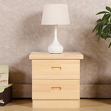EWYGFRFVQAS Kiefer Nachttisch Regal Mit Schublade Bin Einfache Moderne  Kleine Holzgehäuse Schlafzimmer Einfacher Ablageschrank Nachttische Mit