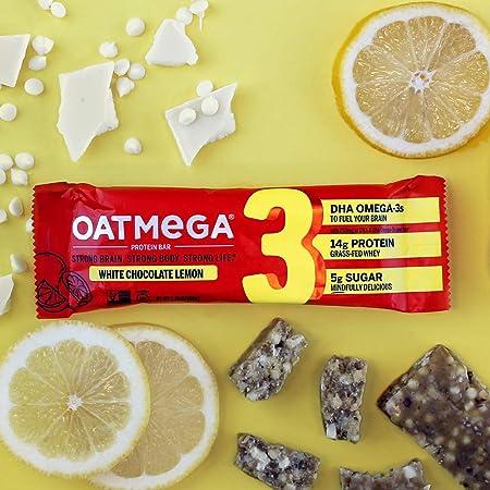 Amazon.com: OATMEGA Barra de proteínas, vainilla almendra ...