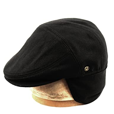 100% Wool Herringbone Winter Ivy Cabbie Hat w  Fleece Earflaps – Driving Hat  ( acb7404c046