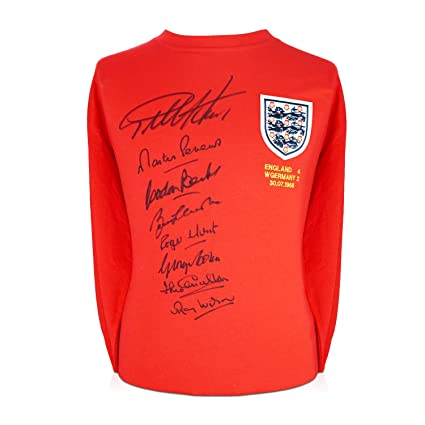 75aa3d8daf4 Image Unavailable. Image not available for. Color  England 1966 World Cup  Winning Team Signed Soccer Jersey