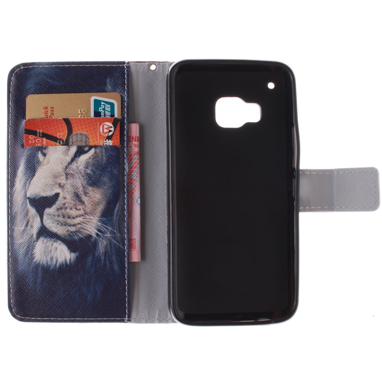 GOCDLJ Schutzh/ülle f/ür HTC One M9 PU Leder Flip Cover Tasche Ledertasche Handytasche H/ülle Handyh/ülle Case Etui Schale Wallet St/änderfunktion Shell Design Wei/ßer Tiger