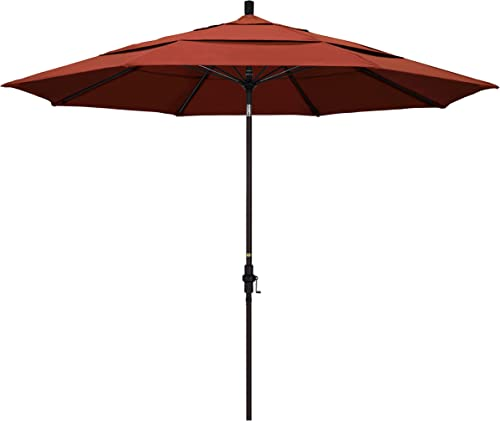 California Umbrella 11' Round Aluminum Pole Fiberglass Rib Patio Umbrella