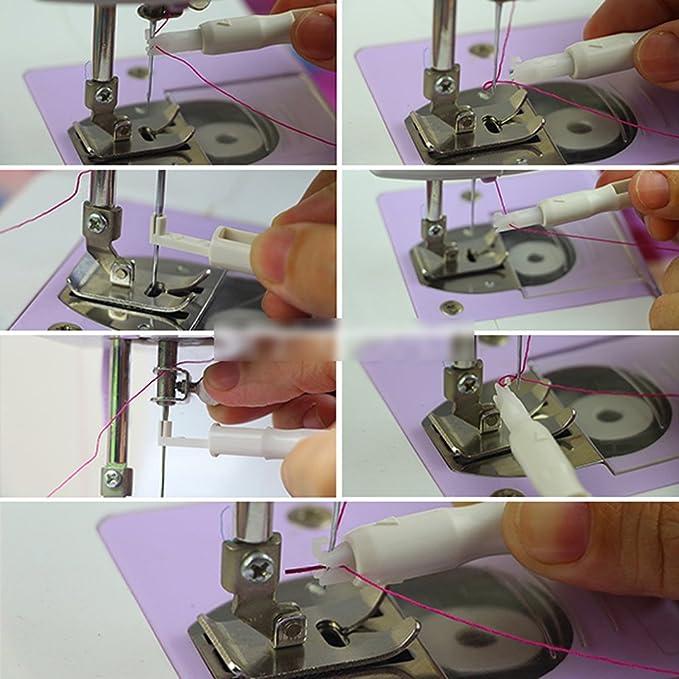 Enhebrador automático HeroNeo inserción aplicador mango de hilos para diseño de vestidos de máquina de herramienta: Amazon.es: Hogar