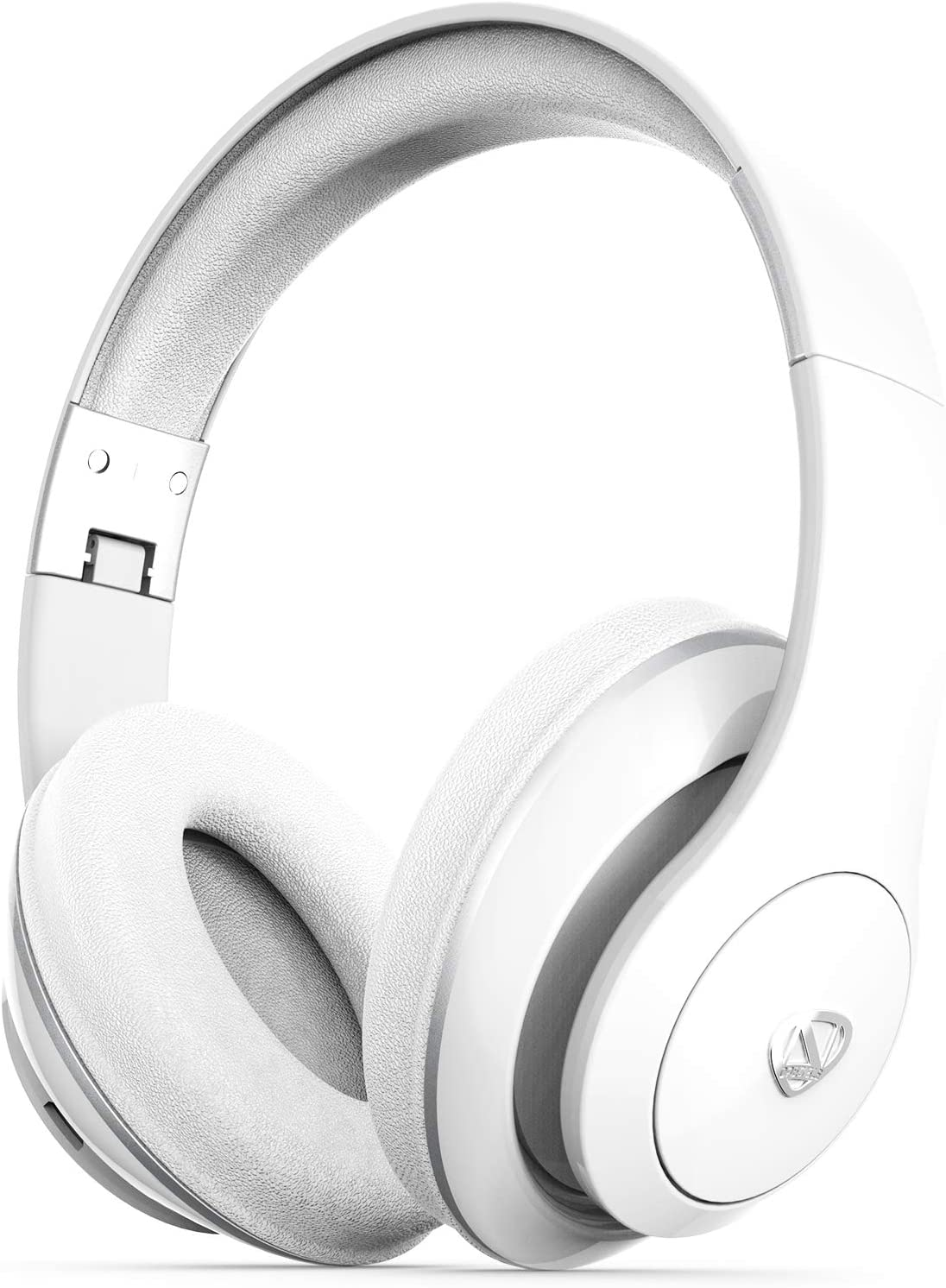 NCredible1 Bluetooth Wireless Headphones, Hi-Fi Stereo Tuned by Nick Cannon, Portable Foldable Headset, Adjustable Padded Headband, Soft Ear Cushions, Built-in Mic, Ear Cup Controls (White)