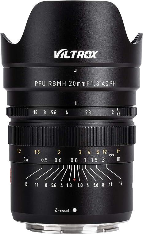 VILTROX PFU RBMH 20 mm F1.8 ASPH Full Frame lente de enfoque fijo ...