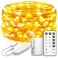 Govee String Lights Plug in, 33 Feet Led Fairy Lights, 100 LEDs Remote Control Fairy Lights with 8 Scence Modes 4 Timing…