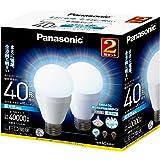 パナソニック LED電球 6.6W 2個入(昼光色相当) 口金直径26mm (全方向タイプ)明るさ 電球40W形相当(485lm) LDA7DGZ40W2T