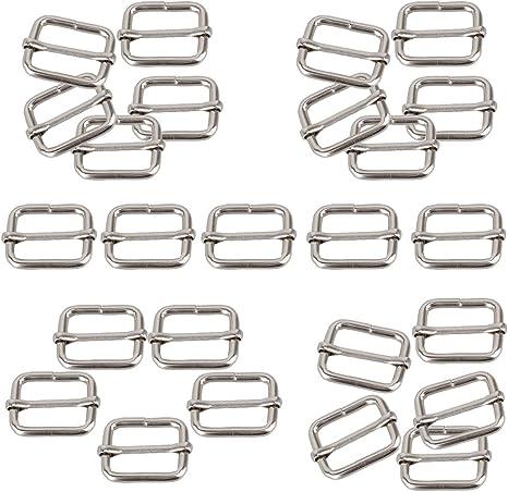 Black metal Round shape Top Quality Belt buckle Adjustable Belt adjustable slide for bag Handbag webbing garment accessories
