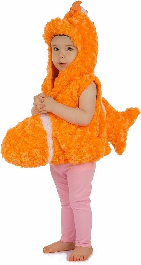 Generique - Disfraz pez Naranja niño 3-4 años (98-104 cm): Amazon ...