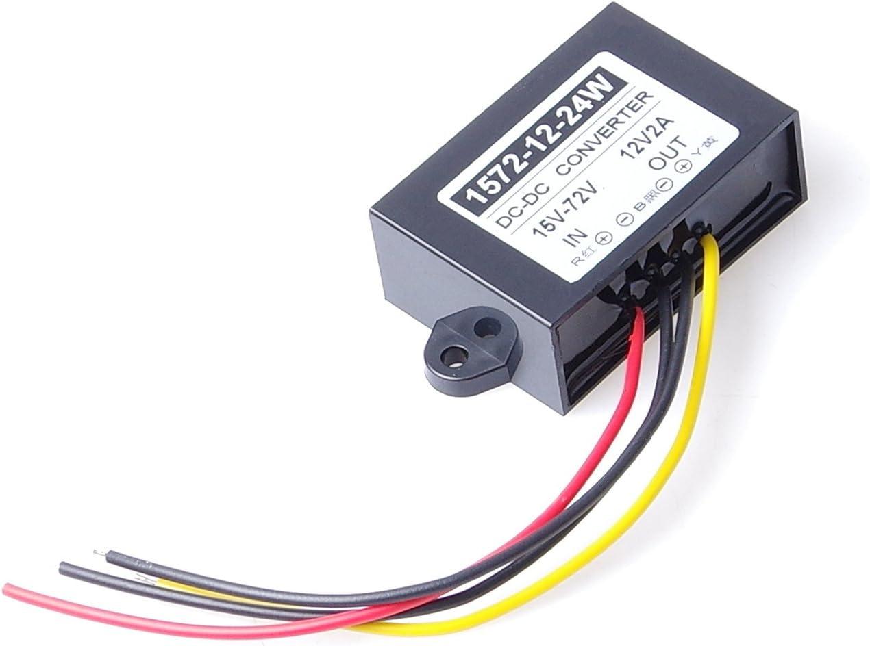 to 12V 2A 24W Converter Regulator Waterproof Buck Power Supply Module 4350282650 KNACRO DC-DC Buck Module DC 24V 36V 48V 60V 72V 15-72V