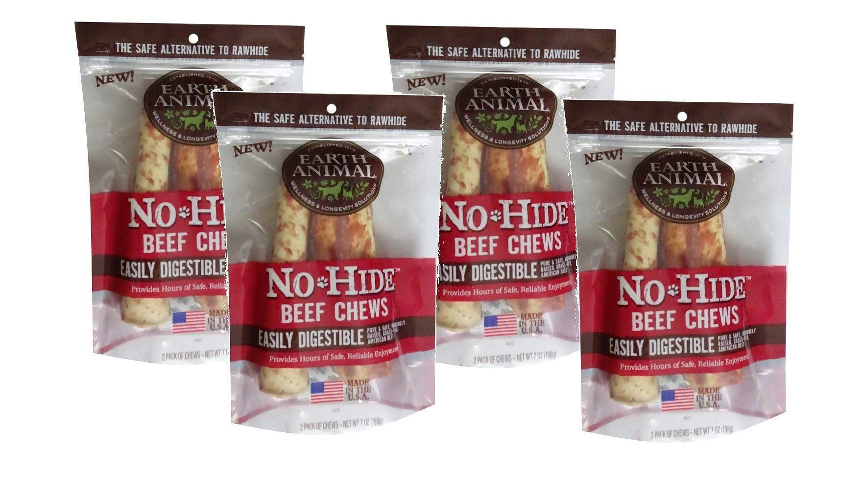 Earth Animal No-Hide Beef Chews, 7'' Each (4 Pack)