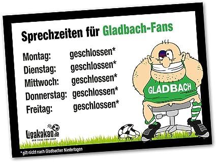 Bayer 04- /& alle Fu/ßball-Fans Achtung Vorsicht Hund Bissig FC K/öln Hunde-Warnschild Schutz vor Gladbach-Fans Dieser Revier-Markierer sch/ützt Haus /& Hof vor M/önchengladbach-Fans