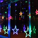 Winrembrandt 48LED String Lights Twinkling Stars Christmas Fairy Window Display 2 Meters Colorful