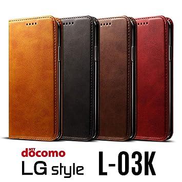 8dd09c6456 Amazon | ベルト無し docomo LG style L-03K ケース 手帳型 マグネット ...