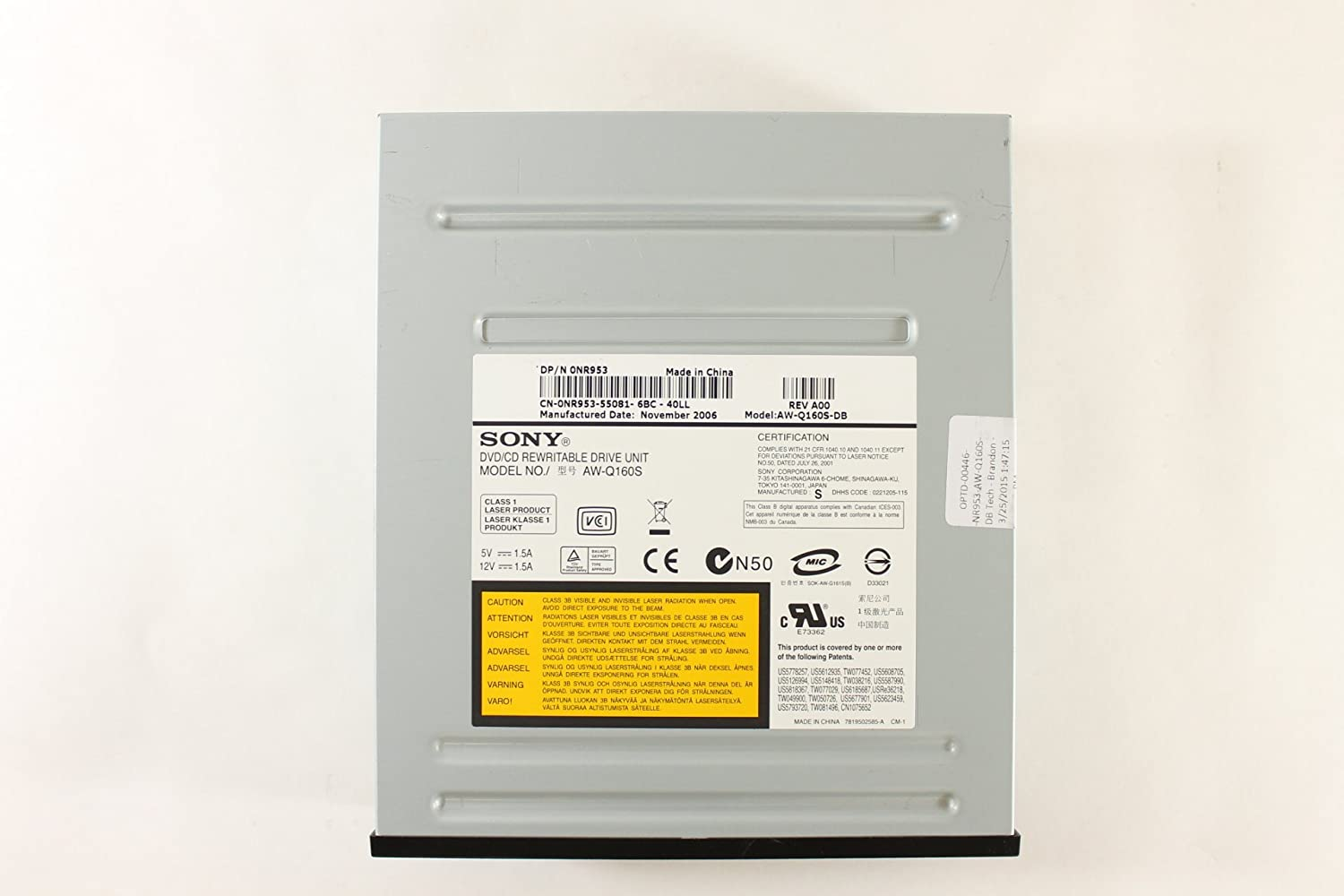 Dell XPS 710 Sony AW-Q160S Driver for Windows 10