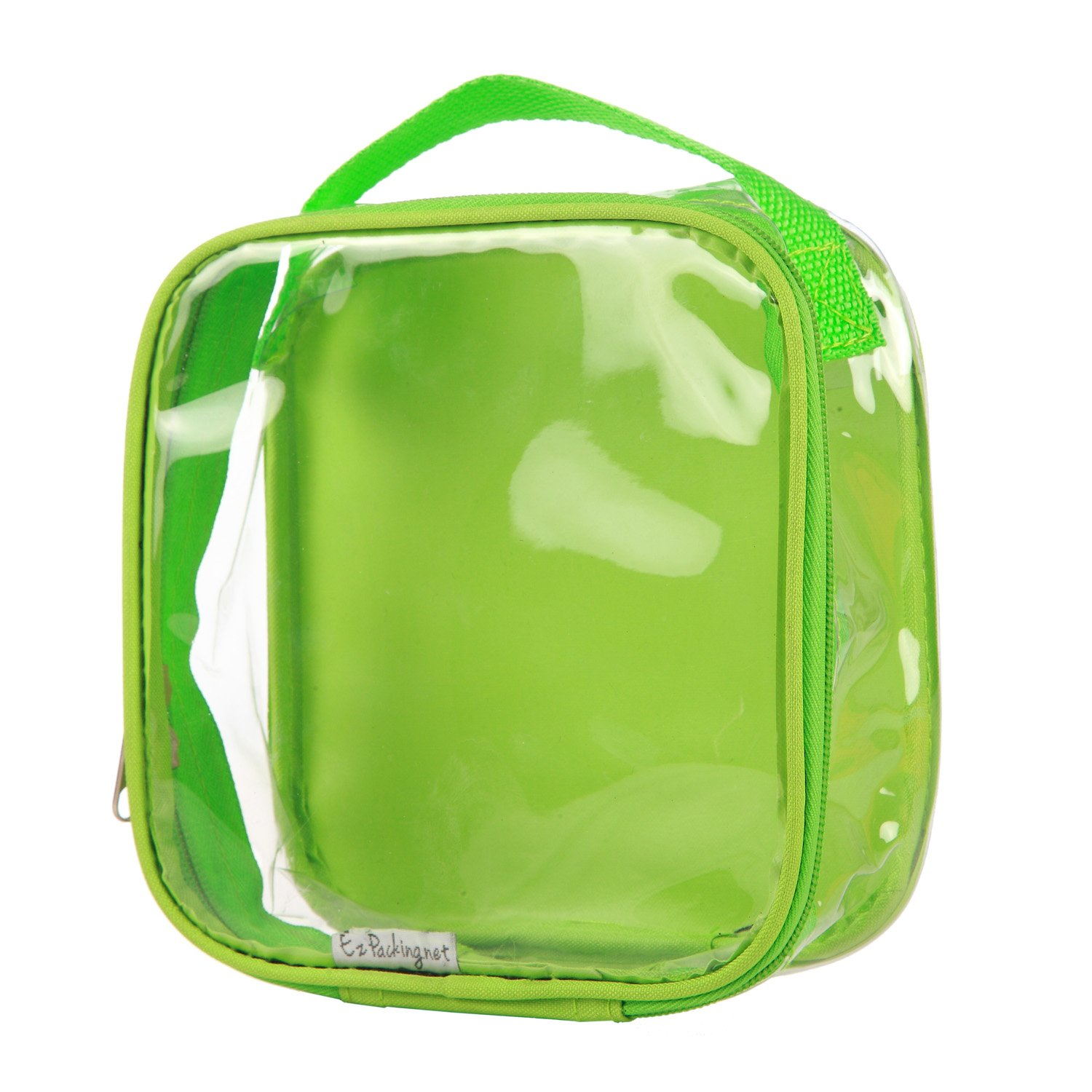 Clear TSA Approved 3-1-1 Travel Toiletry Bag/Transparent See Through Organizer (Lime Green)
