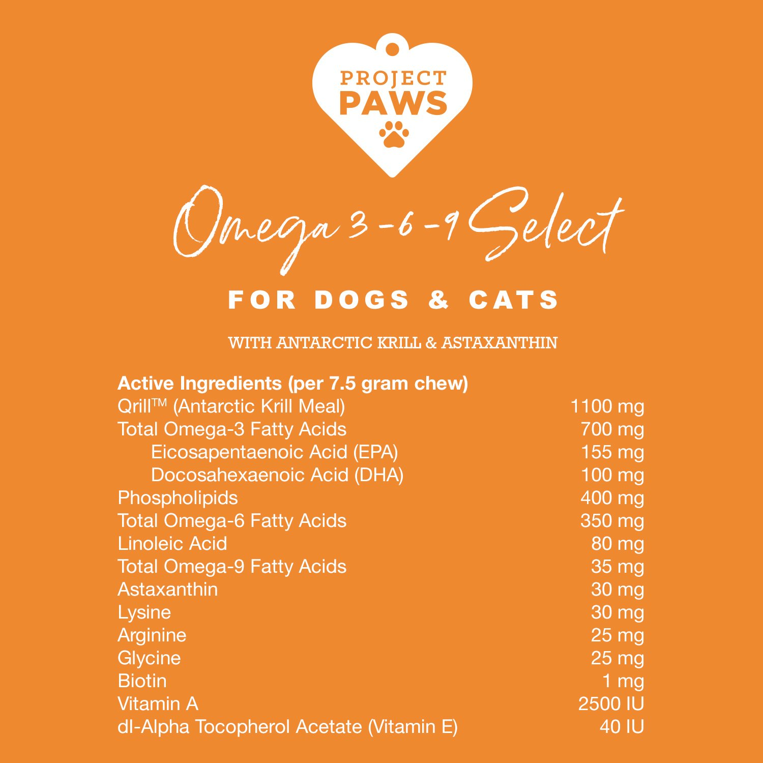 Project Paws Omega 3-6-9 Select Soft Chews 120 Count by Project Paws (Image #7)