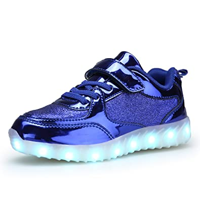 BEGT Kids LED Light Up Shoes USB Charge Casual Sneakers for Boys Girls (35  2a896e669aaa