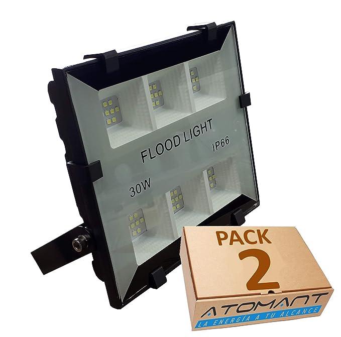 (LA) Pack 2x Proyector LED compacto 30w, blanco frio (6500K), IP66, 3300 Lumenes. (PACK 2X)