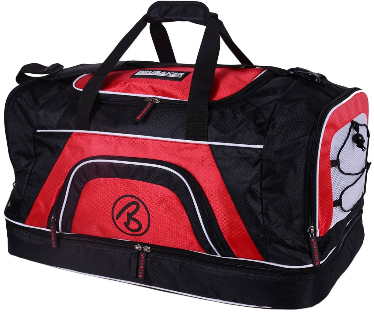 Brubaker 'Big Base' XXL Sports Bag 90 Litres or 'Medium Base' 52 Litres with + Shoe Compartment + Large Wet Compartment at the Bottom