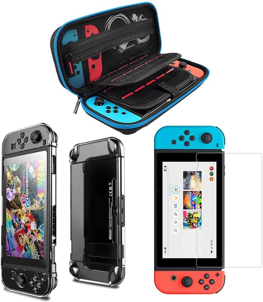 YUYOUG 3 en 1 Nintendo Switch Accessories Kit, Bolsa de Transporte ...