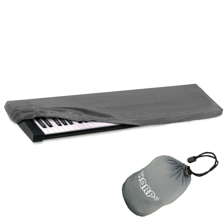 HQRP - elástica polvo carcasa W/bolsa (gris) para Yamaha DGX-650 dgx-650b; Series NP-31 NP-11 NP-V60 NP-V80 Teclado Electrónico Piano Digital + HQRP ...
