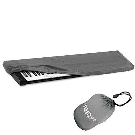HQRP – elástica polvo carcasa W/bolsa (gris) para Yamaha DGX-650