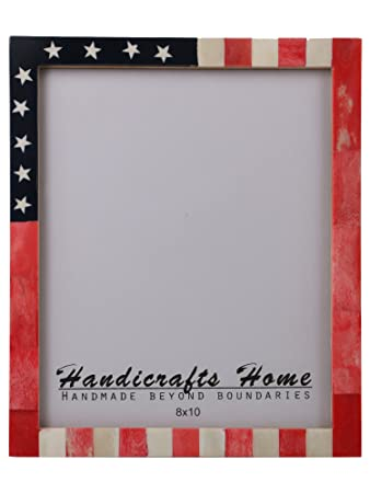Amazon Com Handicrafts Home Usa American Flag Picture Photo Frame