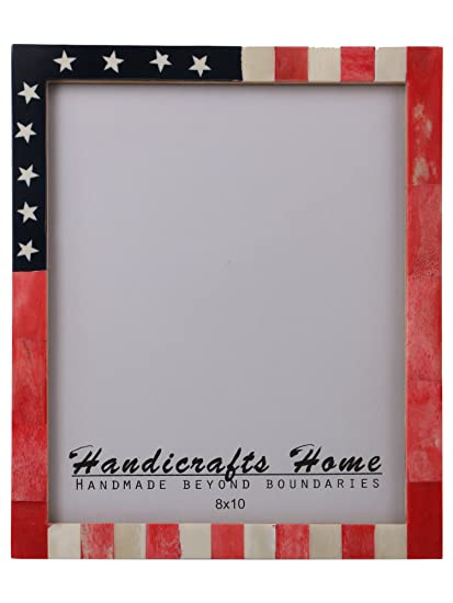 Amazon Handicrafts Home Usa American Flag Picture Photo Frame