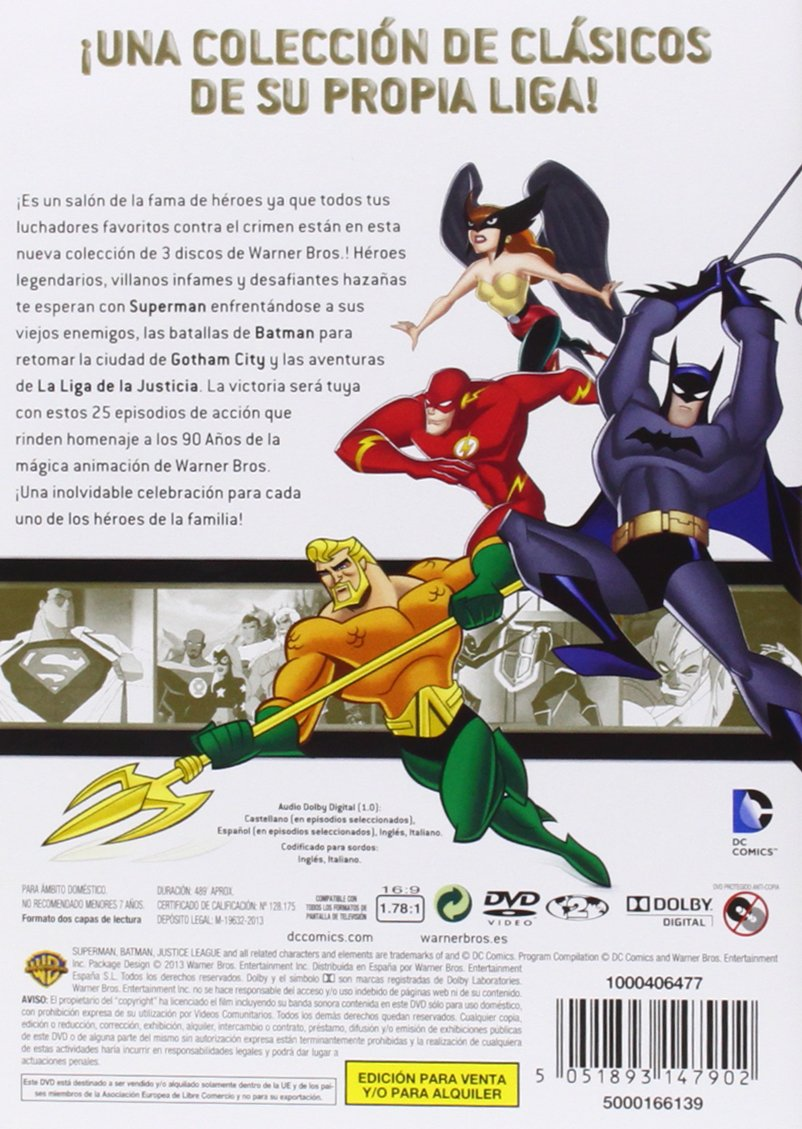 Amazon.com: Lo Mejor De La Animación WB: DC Cómics (44 Episodios) (Import Movie) (European Format - Zone 2) (2013) Dibu: Movies & TV