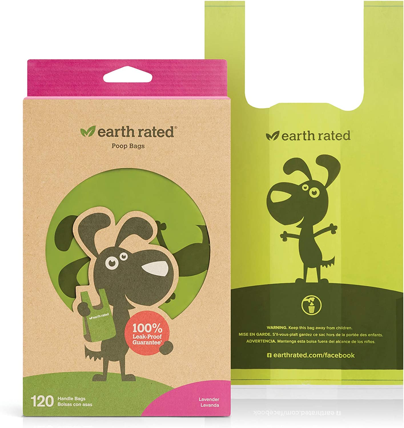 Earth Rated Dog Poop Bags, Pack of 120