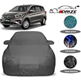 DRIZE™ Ertiga Car Cover Waterproof with Triple Stitched Fully Elastic Ultra Surface Body Protection (Grey Look)