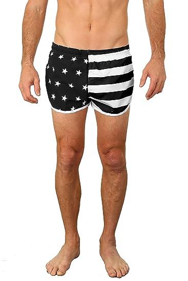 fbe775a394aca Amazon.com: UZZI Men's Basic Running Shorts Swimwear Trunks: Arts ...