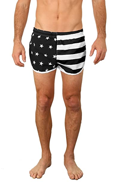 a9abab092d2ca7 Amazon.com: UZZI Men's Basic Running Shorts Swimwear Trunks: Clothing
