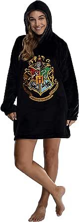 INTIMO Harry Potter Oversized Sherpa Hogwarts Sweatshirt Lounge Hoodie Unisex