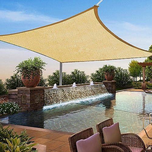 Jeremywell 8' x 10' Sun Shade Sail Canopy Square Sand