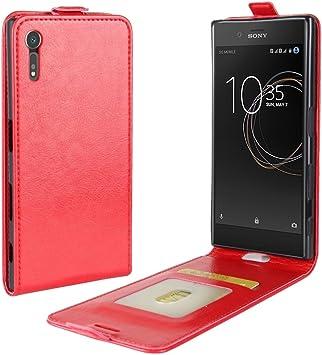 ZHENGYIXIA CASES para Carcasas y Fundas para celulares Funda de Cuero con Tapa Vertical para Sony Xperia XZs/XZ Screwball Horse con Ranura para Tarjeta y Marco de Fotos (Color : Rojo): Amazon.es: