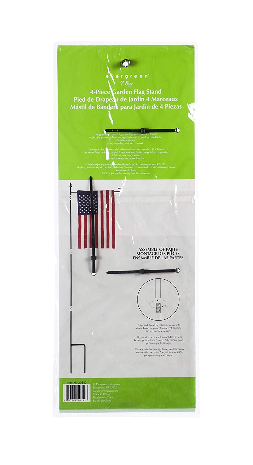 Amazon.com : Evergreen Flag 20142 4 Piece Full Size Black Garden Flag Stand 44