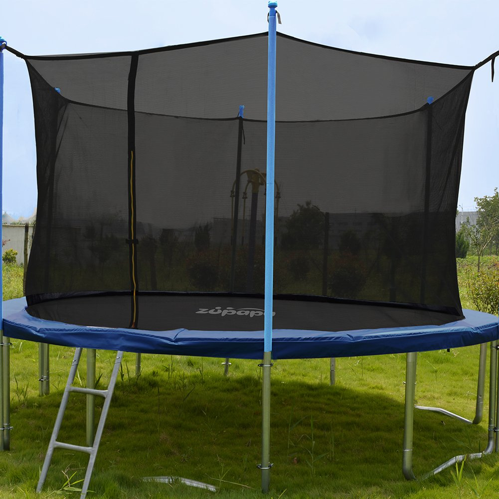 ORCC New Upgrade 15 14 12 10 FT Trampoline with Safety Enclosure Net Wind Stakes Rain Cover Ladder,Outdoor Trampoline with TUV Certificated,Best Gift for Kids by ORCC (Image #2)