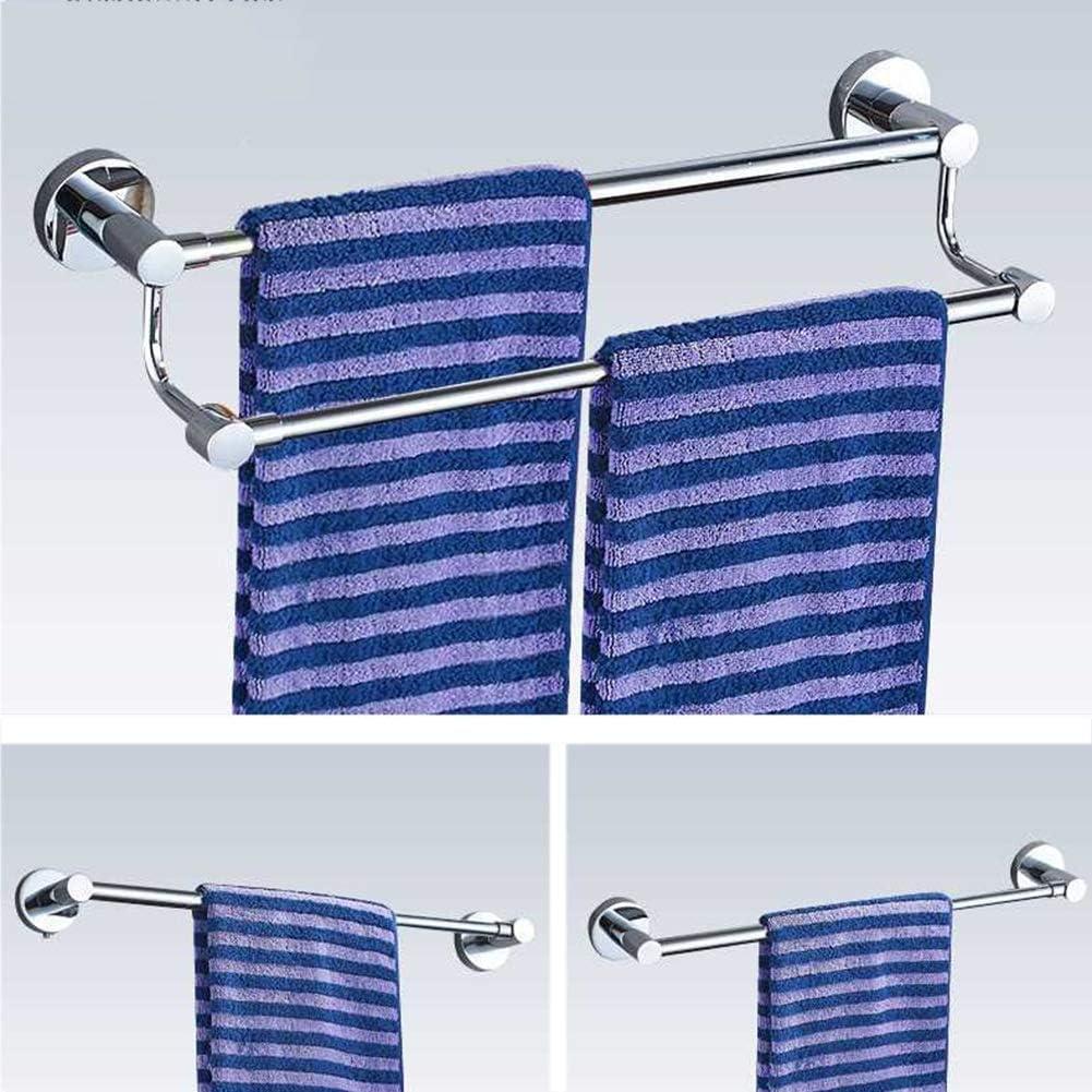 Porte-Serviettes Barre Porte-serviette304 Acier Inoxydable Chrome Barres Porte Serviette Mural Support Serviette R/étractable Accessoire De Salle De Bain Ou Cuisine ZHAOFENGE