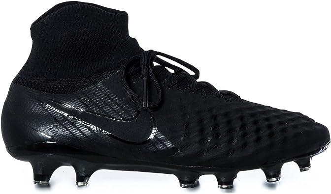 jefe Concentración Corroer  Nike Magista Obra II FG, Botas de fútbol para Hombre, Negro (Black/Black  001), 44.5 EU: Amazon.es: Zapatos y complementos
